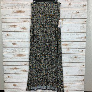 LuLaRoe Maxi Skirt Small Blue/Multi Floral NWT